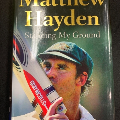 Standing my ground Matthew Hayden