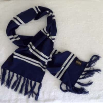 AUTHENTIC HARRY POTTER KNITTED SCARF Blue/White  160 cm x 27cm