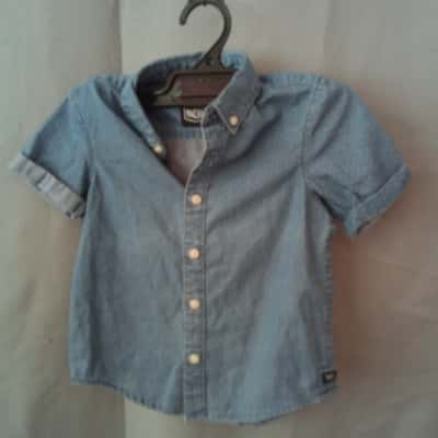 Indie Kids Boys Blue Dress Shirt Size 3 NWT RRP $44.95