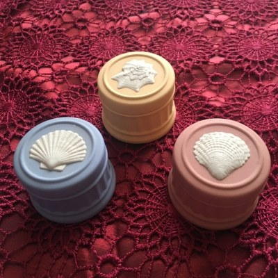 Wedgwood Vintage Round Trinket Boxes - Set of 3, Made in England