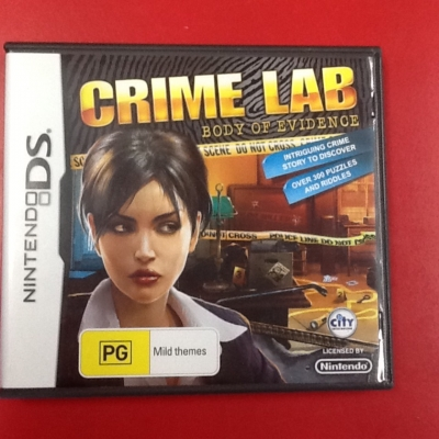 Nintendo ds game  crime lab Bobby of evidence