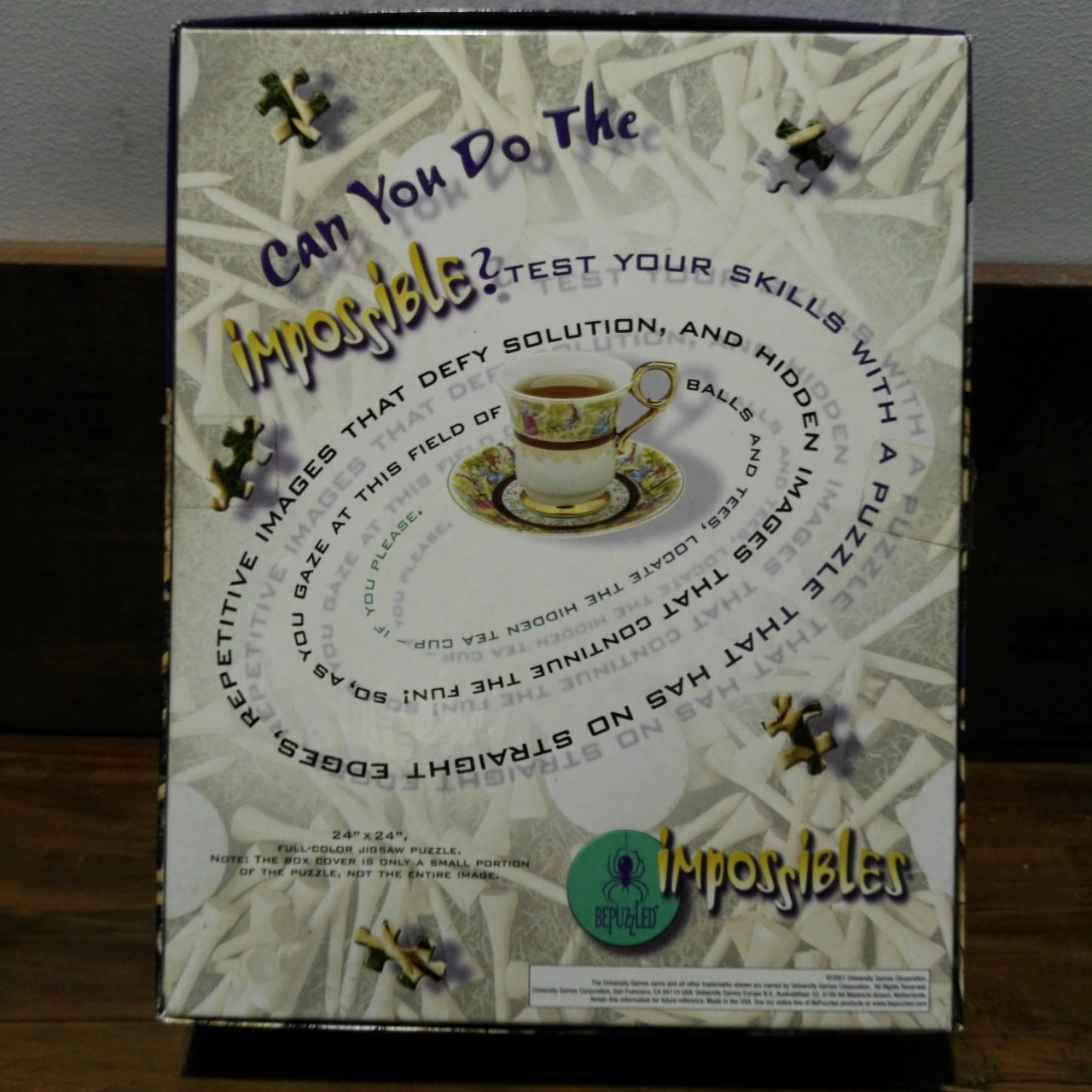 IMPOSSIBLES 750 PCE JIGSAW PUZZLE ( with 5 extra peices to make more difficult)