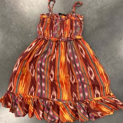 Girls RALPH LAUREN MULTI COLOURED SUMMER DRESS Size 5