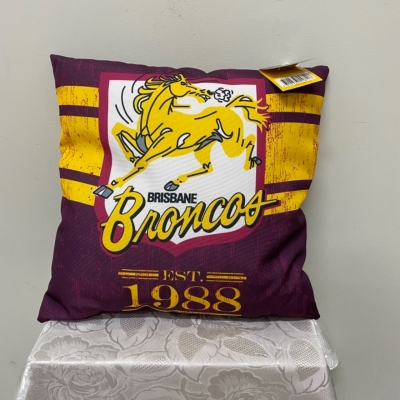 NRL Official Product Cushion Brisbane Broncos