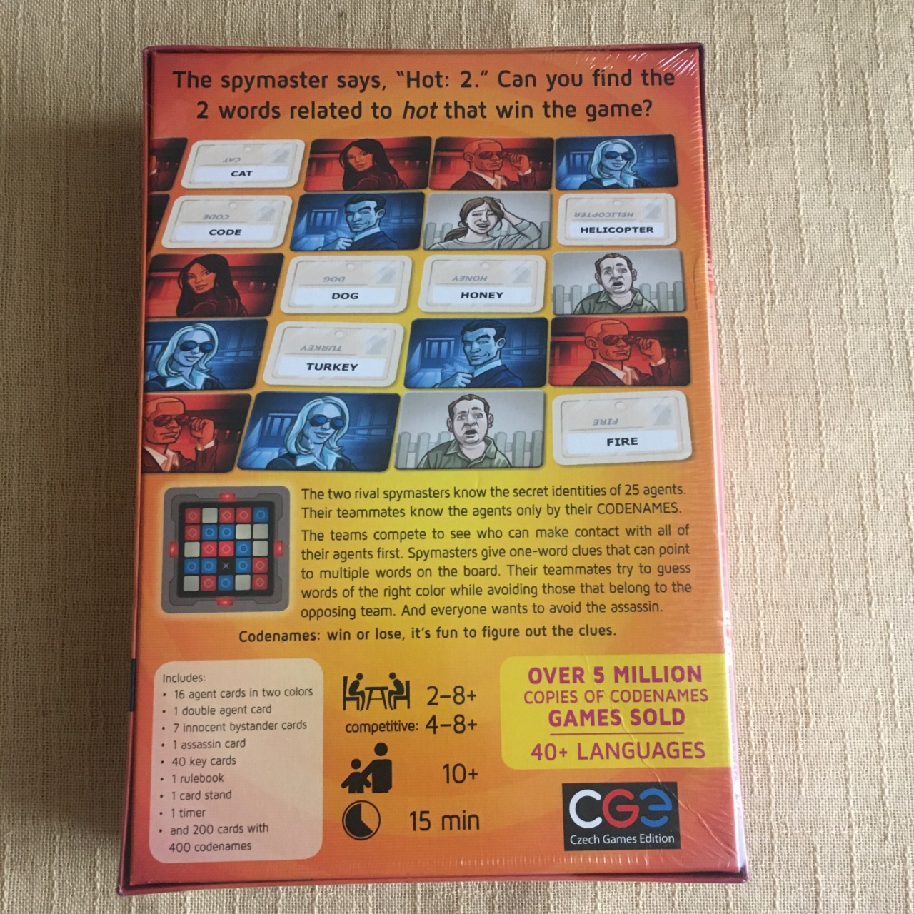 Codenames - Party Game, Age 10+ Brand New
