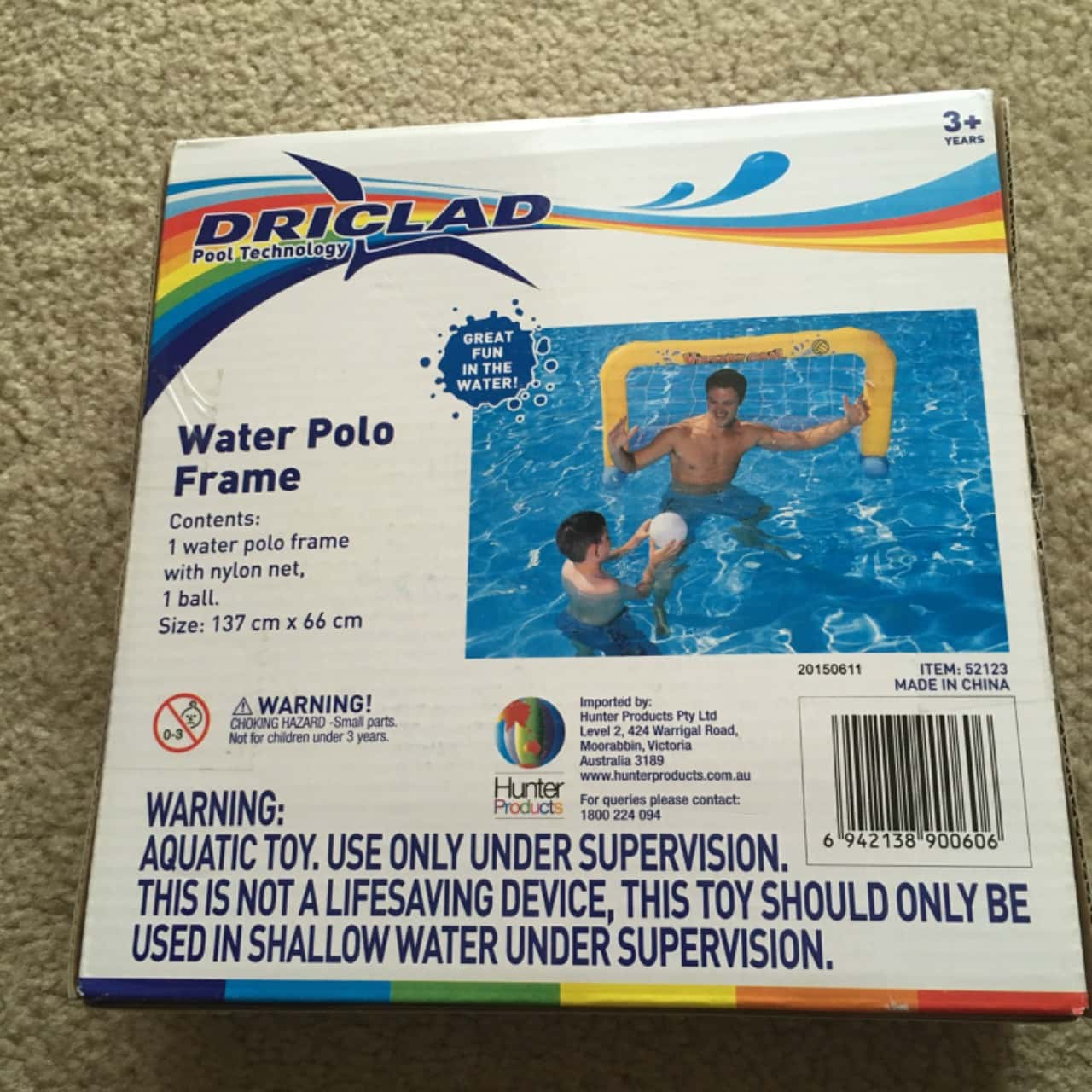 Driclad Water Polo Inflatable Frame - Brand New