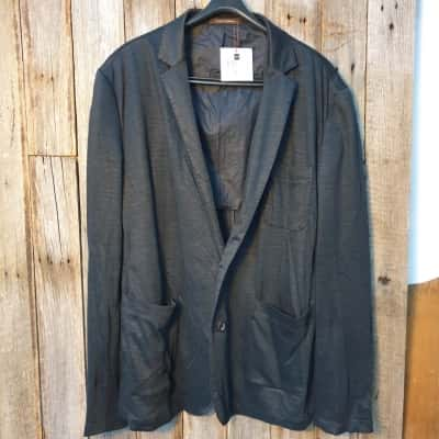 Men's Alfonso Domingues Black/Blue Blazer Size L