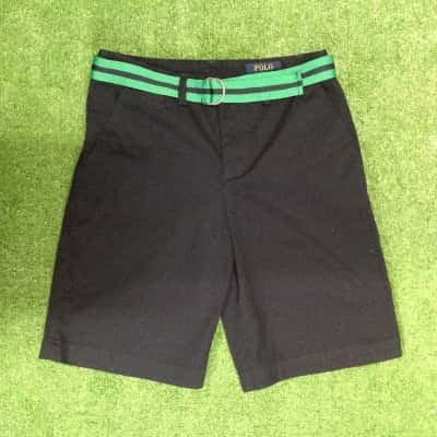 Polo Ralph Lauren Kids  Size 14 Shorts Navy Blue with belt 100% cotton