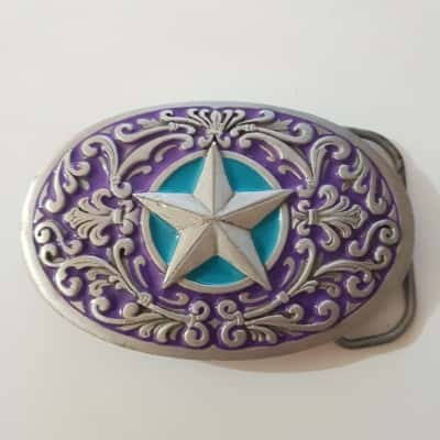 Mens pure pewter star belt buckle 1993 GAP