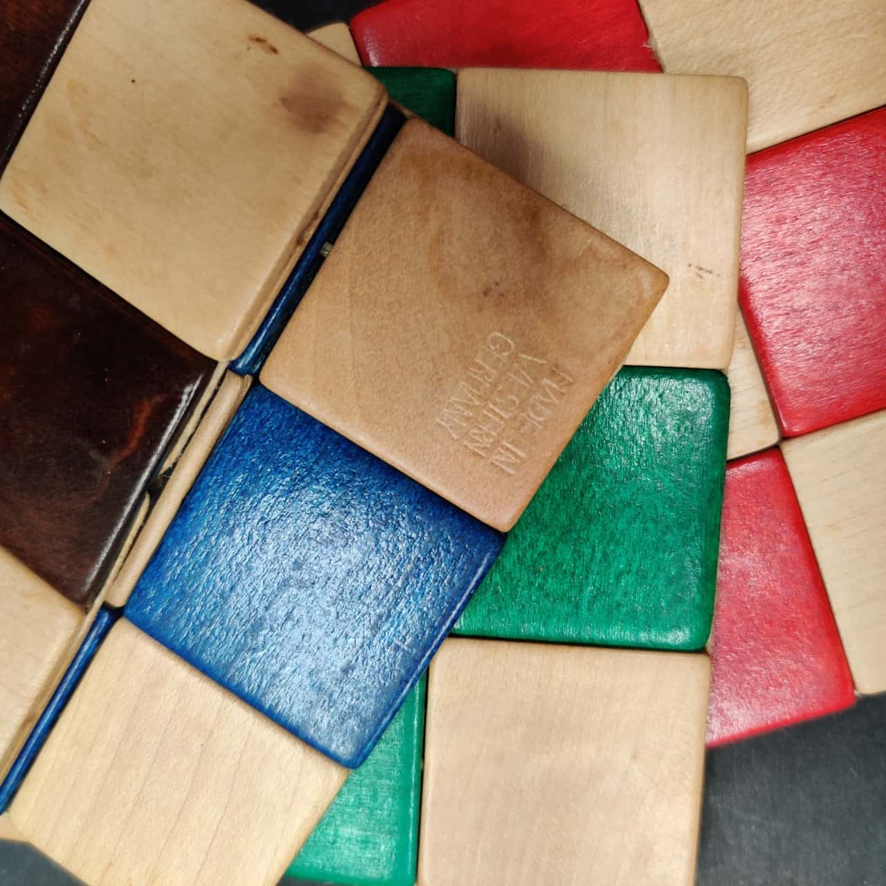 Wooden Drinks Coasters With Playing Card Theme
