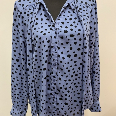 Womens TOKITO  Size 14 Shirts & Blouses Black /Blue