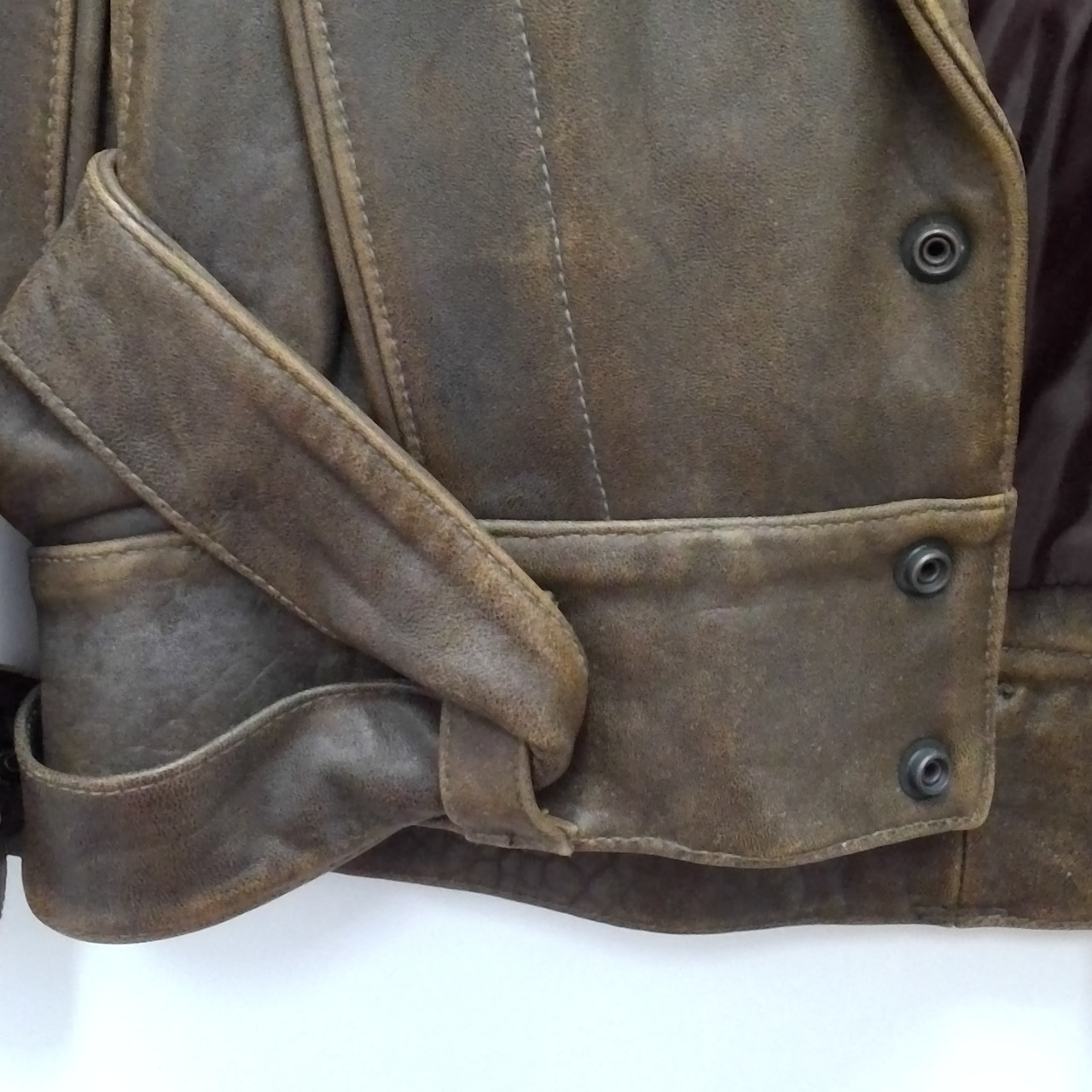 Mens  VINTAGE ERICH PLANINSEK Leather Jacket Brown  Size S