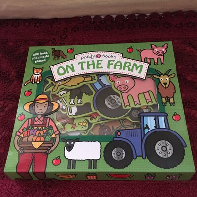 Reduced !!!  Let's Pretend On The Farm With Book & Puzzle Pieces, Age 3+, Used as New