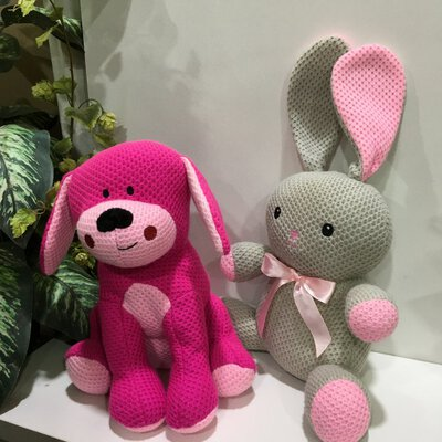 50% Off - Dog Pink and Rabbit Grey,