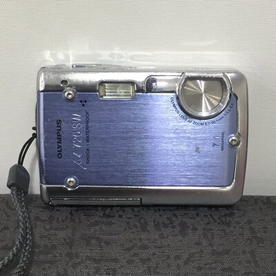 OLYMPUS Digital Camera M720 SW Blue/Silver (Just Camera) 7.1 Megapixel