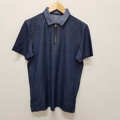 Calvin Klein Mens Polo Shirt with Zip Size S